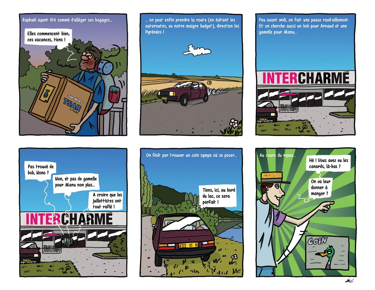 Planche 5 BD Pyrénées - Départ