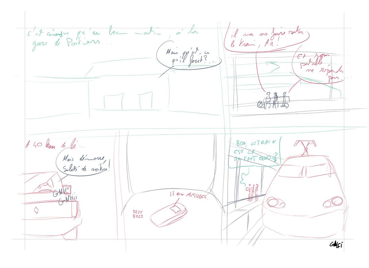 Storyboard planche 4 BD Far-West