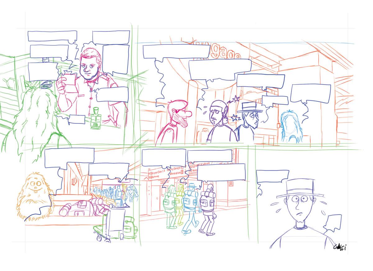 Crayonné planche 12