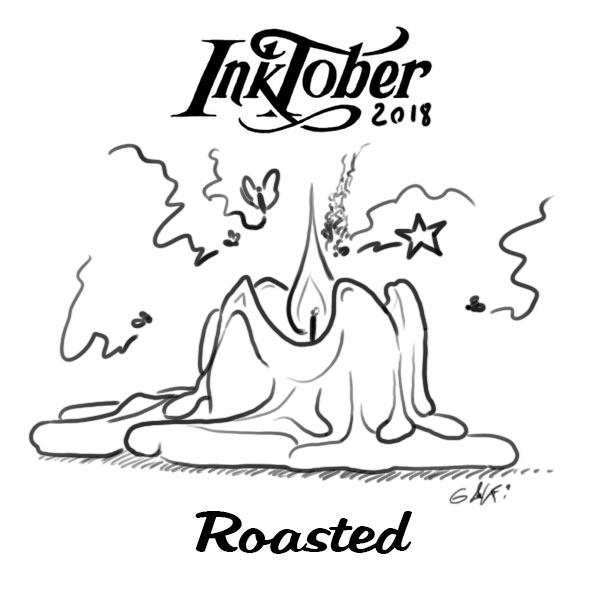 inktober 2018- - Jour 3 - roasted